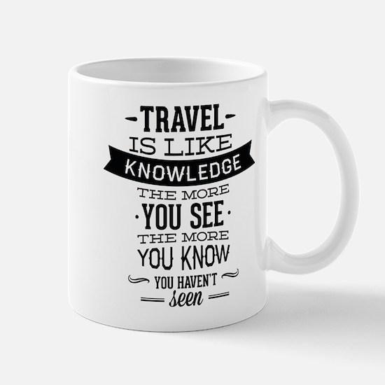 Travel Is Like Knowledge Mug