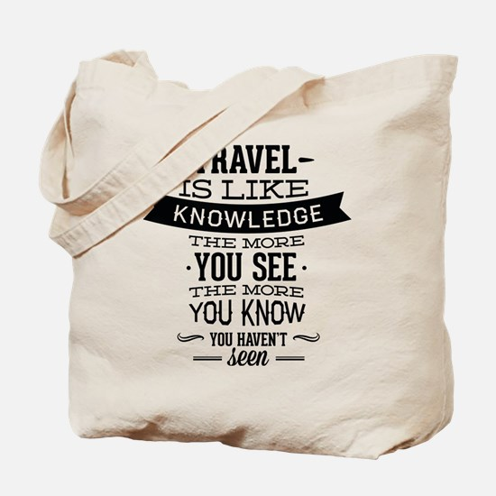 Travel Is Like Knowledge Tote Bag