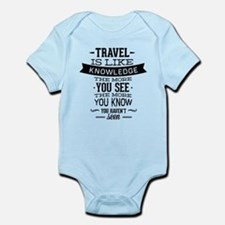 Travel Is Like Knowledge Infant Bodysuit