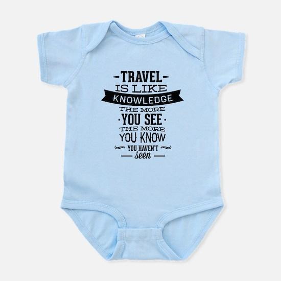 Travel Is Like Knowledge Infant Bodysuit