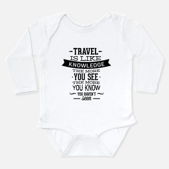 Travel Is Like Knowledge Onesie Romper Suit