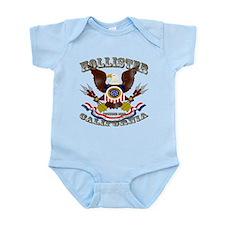 Hollister, CA Eagle 1868 Fadeout Infant Bodysuit