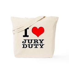 I Heart (Love) Jury Duty Tote Bag