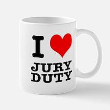 I Heart (Love) Jury Duty Mug