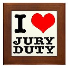 I Heart (Love) Jury Duty Framed Tile