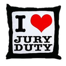 I Heart (Love) Jury Duty Throw Pillow