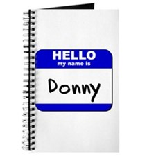 hello my name is donny Journal
