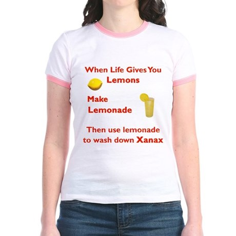 Lemonx Red Jr. Ringer T-Shirt