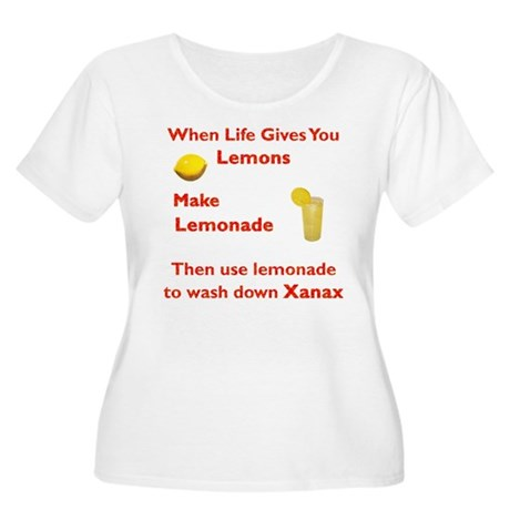 Lemonx Red Women's Plus Size Scoop Neck T-Shirt