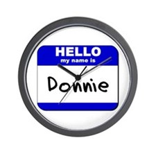 hello my name is donnie  Wall Clock