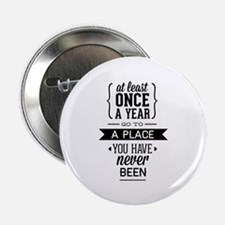 "Go To A Place You Have Never Been 2.25"" Button (10"