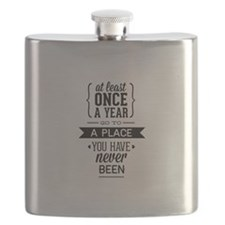 Go To A Place You Have Never Been Flask
