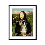 Mona & Boxer Framed Panel Print