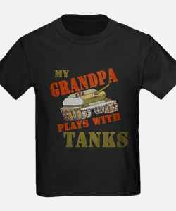 Grandpa Plays with Tanks T-Shirt