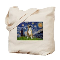 Starry / Boxer Tote Bag