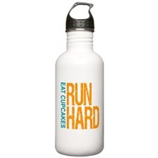Run Hard Eat Cupcakes Water Bottle