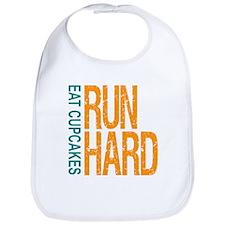 Run Hard Eat Cupcakes Bib