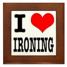I Heart (Love) Ironing Framed Tile