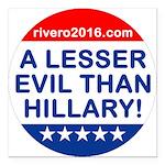 A Lesser Evil Than Hillary Square Car Magnet 3&Amp