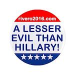 A Lesser Evil Than Hillary 3.5&Quot; Button