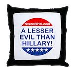 A Lesser Evil Than Hillary Throw Pillow