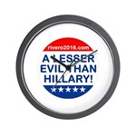 A Lesser Evil Than Hillary Wall Clock
