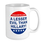 A Lesser Evil Than Hillary Mugs