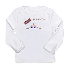 I Love Bacon Peek-A-Boo Baby Long Sleeve T-Shirt