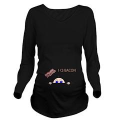 I Love Bacon Peek-A-Boo Baby Long Sleeve Maternity
