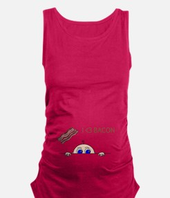 I Love Bacon Peek-A-Boo Baby Maternity Tank Top