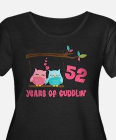 52nd Anniversary Owl Couple T