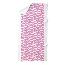 Cute Dachshund Pattern Beach Towel