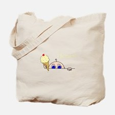 I Scream Peek-A-Boo Baby Ice Cream Tote Bag