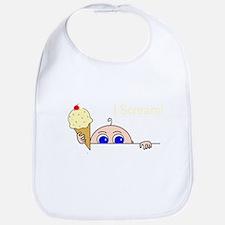 I Scream Peek-A-Boo Baby Ice Cream Bib