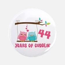 "44th Anniversary Owl Couple 3.5"" Button"