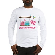 42nd Anniversary Owl Couple Long Sleeve T-Shirt