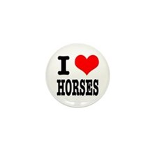 I Heart (Love) Horses Mini Button (100 pack)
