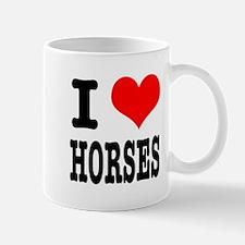 I Heart (Love) Horses Mug