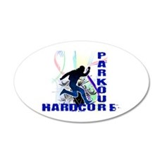 Free Running Parkour Hardcore Wall Decal