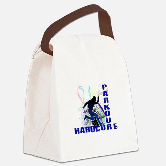 Free Running Parkour Hardcore Canvas Lunch Bag