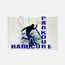 Free Running Parkour Hardcore Rectangle Magnet