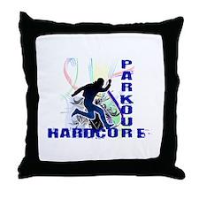 Free Running Parkour Hardcore Throw Pillow