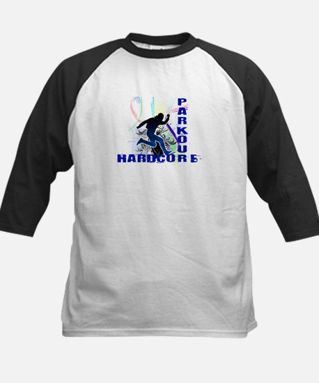 Free Running Parkour Hardcore Kids Baseball Jersey
