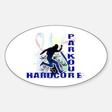 Free Running Parkour Hardcore Sticker (Oval)