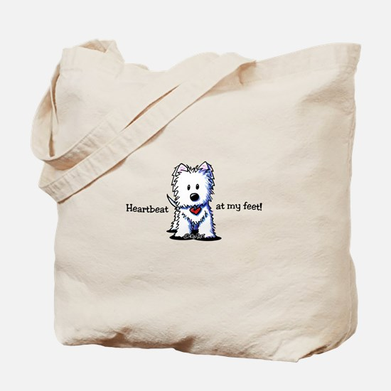 Westie Heartbeat Tote Bag