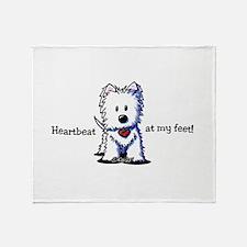 Westie Heartbeat Throw Blanket