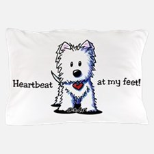 Westie Heartbeat Pillow Case