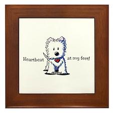 Westie Heartbeat Framed Tile