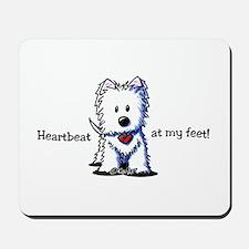 Westie Heartbeat Mousepad