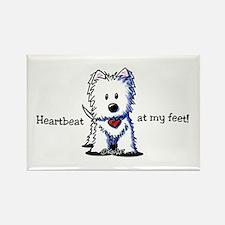 Westie Heartbeat Rectangle Magnet